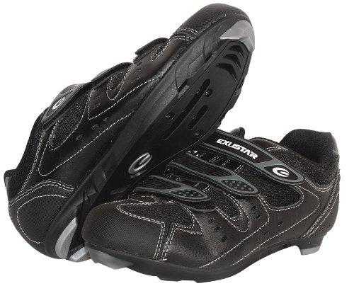 Exustar E-SR442 Cycling Shoe,Black,9.5 M US