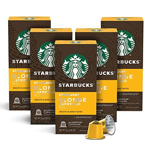 Café Starbucks em Cápsulas Nespresso, Blonde Espresso Roast - 50 cápsulas