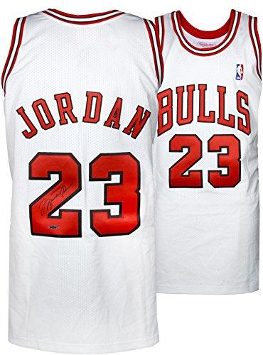 Michael Jordan Chicago Bulls Autographed 1997-98 Mitchell & Ness White Jersey - Upper Deck - Autographed NBA Jerseys