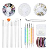 Vathery 55 Pezzi Nail Art Design Kit di Decorazione Set per Unghie con 15pz Nail Art Penne...