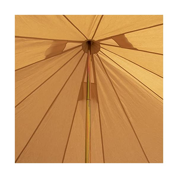 5m 100% Cotton Canvas Bell Tent With Heavy Duty Zipped In Groundsheet, Camping, Glamping, Festival, Luxury Teepee 1