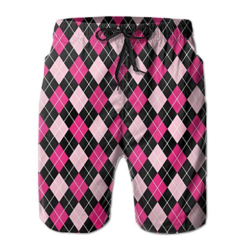 Feimao Baseball White Mens Beach Boardshort Summer Casual Swim Trunks with Pockets