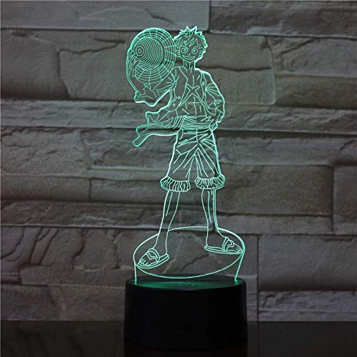 Kleur stuk nachtlampje slaapkamer decoratieve verlichting mannen jong geschenk illusie 16 kleuren nachtlampje 3d LED illusie licht 16 kleuren op afstand bediend dimensionaal licht optisch nachtlampje