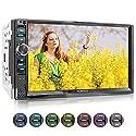 XOMAX XM-2V719 Autoradio mit Mirrorlink für Android, Bluetooth Freisprecheinrichtung, Anschluss für externes Mikrofon, 7 Zoll / 18cm Touchscreen Bildschirm, 7 Farben, FM, AUX, SD, USB, 2 DIN