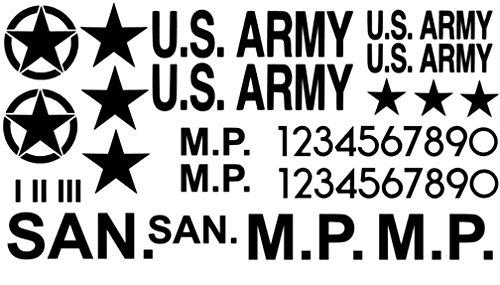 Generic RC char 1/16 Autocollant de modélisme pour char US 56/15 15x8cm noir mat