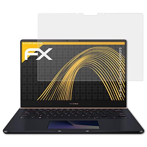 atFoliX Película Protectora Compatible con ASUS ZenBook Pro 14 UX480FD Lámina Protectora de Pantalla, antirreflejos y amortiguadores FX Protector Película (2X)