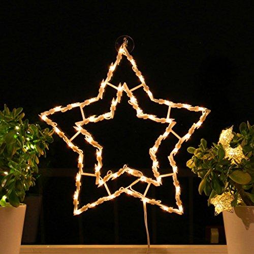 Fenster-Silhouette Weihnachten 42cm Weihnachtsdeko Fensterbilder Beleuchtet Weihnachtsbeleuchtung innen Fensterdeko zum aufhängen