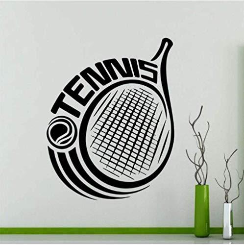 Pegatinas De Pared Con Logotipo De Tenis Deportivo Para Decoración Artística De Gimnasio, Calcomanías De Vinilo De Tenis Con Letras Grandes, Póster De Decoración Del Hogar Para Sala De Estar, 42X53Cm