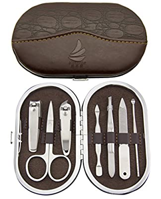 Maketop Stainless Steel Small Oval Manicure Set