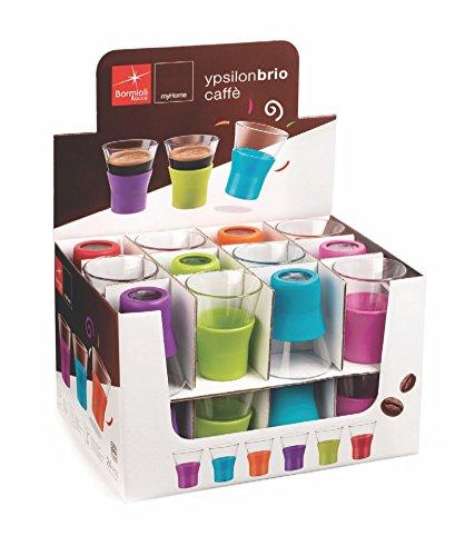 Ypsilon Brio Copo para Café com Suporte Silicone Bormilo Rocco Transparente