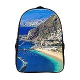 XIAHAILE Mochila de estilo clásico para portátil Multiusos Daypacks,San Andrés Tenerife Hermoso Turismo