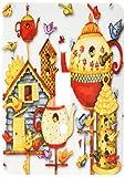 3dRose lsp_184658_1 Pretty Decorative Teapots & Birdhouses Toggle Switch