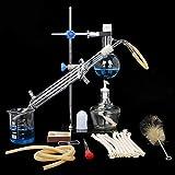 ZCP Cristalería de Laboratorio de Cristal Kit de destilación Industrial Ciencia Destilador Pure Rocío Purificación Hacer Aceites Esenciales Filtro Agua destilada químicos