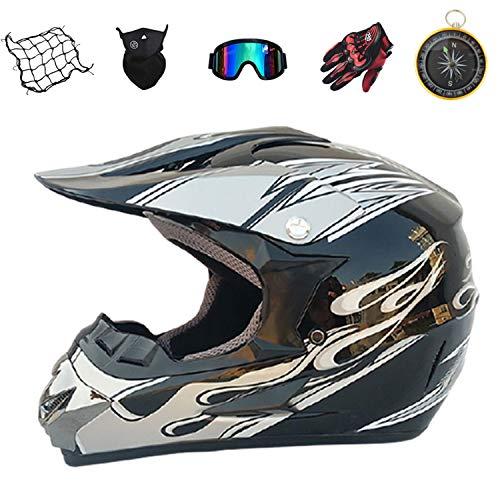 IURIMA KIDS Motocross Helmet MTB Off Road Motorbike MX ATV Crash Helmet ((57-58) S)