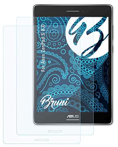 Bruni Schutzfolie kompatibel mit Asus ZenPad S 8.0 Folie, glasklare Bildschirmschutzfolie (2X)