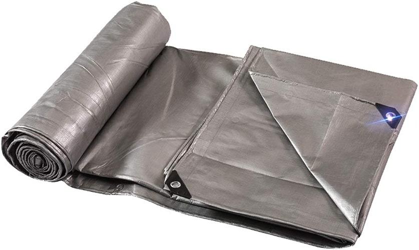 TTW Bache extérieure épaisse de bache imperméable idéale pour la Couverture de Tente, de Bateau, de RV ou de Piscine, Argent, 220g   m2 (Couleur   4×6M)