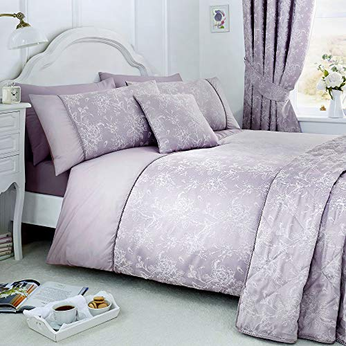 Serene - Jasmine - Easy Care Duvet Cover Set | King Size | Lavender Bedding
