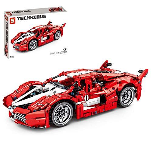 CYGG Modelo de Autos Deportivos estático, 1282 Piezas de los Kits de construcción de vehículos de vehículos de automóvil Deportivo compatibles con Lego