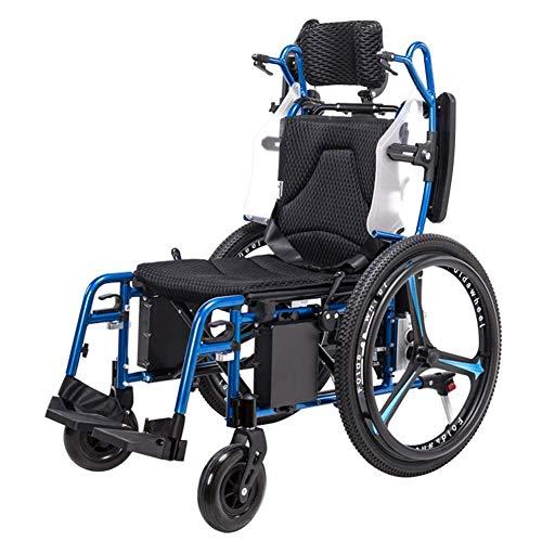 GLXLSBZ Rueda Eléctrica Personas Mayores con Discapacidades Rueda de Aluminio Ligera Plegable Automático Inteligentegj (Regalos Ancianos)
