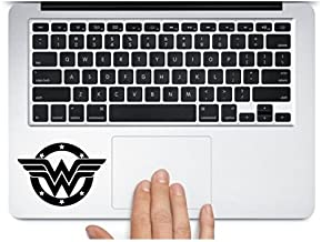 Wonder woman logo in black color for Macbook Mac Air Laptop trackpad Decal Sticker Black - Sticker Graphic - Auto, Wall, L...