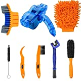 Bike Cleaning Tools Set (8 Pack),Including Bike Chain Scrubber and Clean Brush,Crank,Sprcket,Tire Corner Rust Blot Dirt Clean Tools,Suitable for Mountain, Road, Hybrid, BMX and Folding Bike (8 Pack)