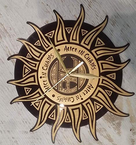 LKCAK Alice in Chains Reloj de Pared de Vinilo Reloj de Pared de Vinilo Reloj Creativo