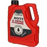 Wahou 38-1Q-016 Jerrycan bidón Bricor - Juego de 14 herramientas (acero plástico y PVC, 18,5 x 5 x 13,5 cm), color rojo
