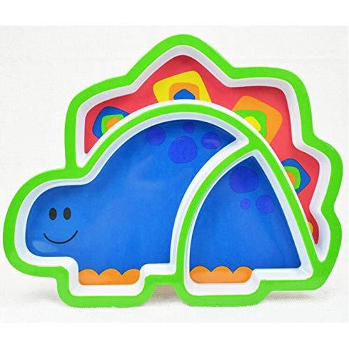 Zfwlkj Vajilla Infantil Placa de útil Precioso imitación Porcelana Resina Animal Linda Serie Vajilla Vajilla Infantil for los niños (Color : 01)