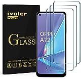 ivoler 3 Unidades Cristal Vidrio Templado Protector de Pantalla para Xiaomi Redmi Note 10 5G / Xiaomi Poco M3 Pro 5G / Xiaomi Redmi 10 / OPPO A73 5G / A52 / A72 / Realme 7 4G / 5G / 6 / 6S / TCL 10L
