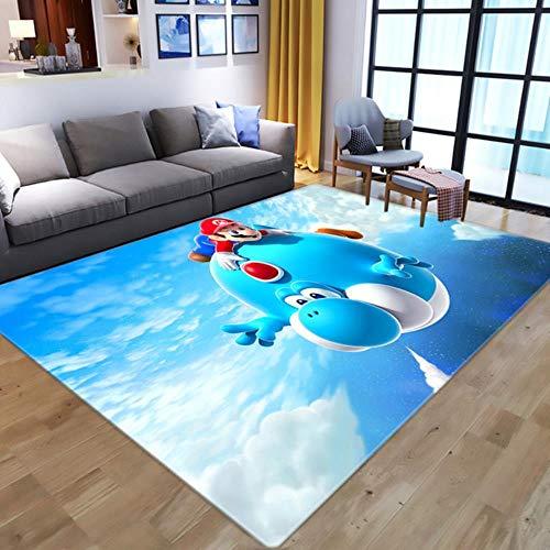 Alfombra con Estampado 3D, Alfombra con Controlador de Jugador de Anime, Alfombra de Dibujos Animados para niños, Dormitorio, Juego, Alfombra para Sala de Estar