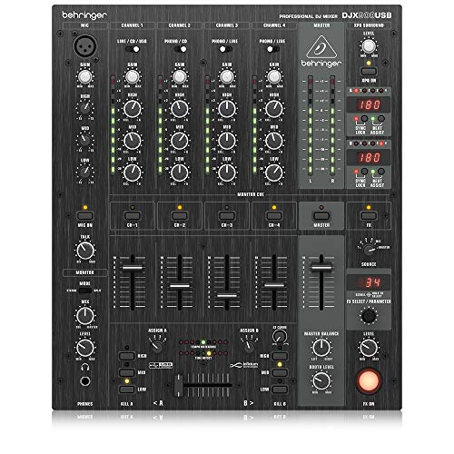 Behringer Pro Mixer DJX900USB Professionele 5-kanaals DJ-mixer met infinium Contact-Free VCA Crossfader, Advanced Digital Effects en USB/Audio Interface