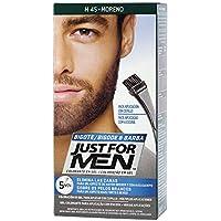 JUST FOR MEN Colorante en gel bigote barba y patillas - Tinte para las canas de la barba para hombres - Moreno - 15 ml