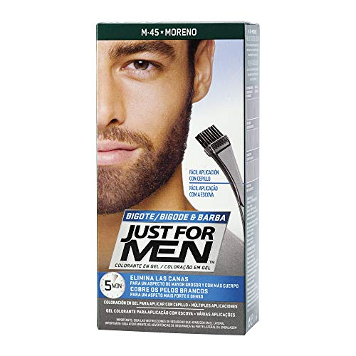 JUST FOR MEN Colorante gel bigote barba patillas -