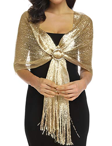 Shawls and Wraps for Evening Dresses, Gold