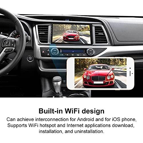 Jopwkuin Reproductor de Video Bluetooth, Reproductor Bluetooth y WiFi MP5 con Bluetooth de Cristal líquido y WiFi para navegación de automóviles y visualización de Videos