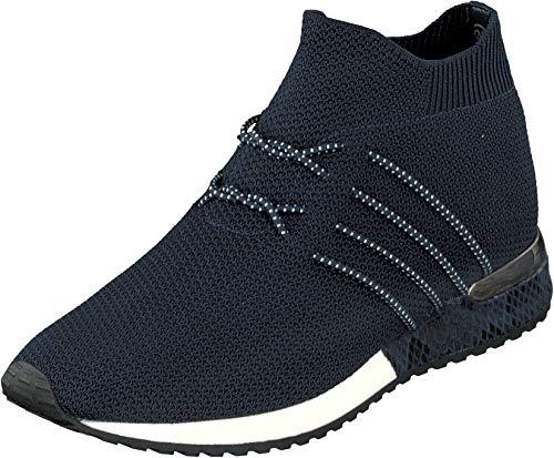 La Strada 1715464 knitted blue - Sneaker Damen,Blue Knitted Gr. 40