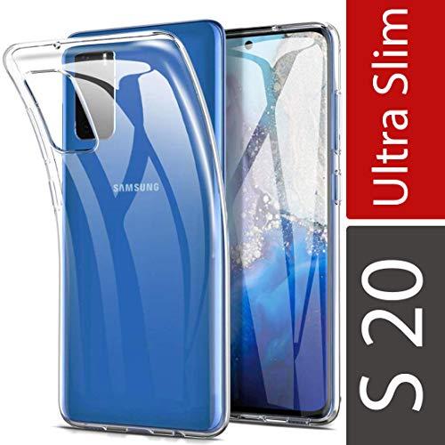 wortek Crystal Clear Hülle kompatibel mit Samsung Galaxy S20, Handyhülle Transparent, Anti-Gelb Silikon Bumper Case, Durchsichtige Kratzfeste Schutzhülle - Klar