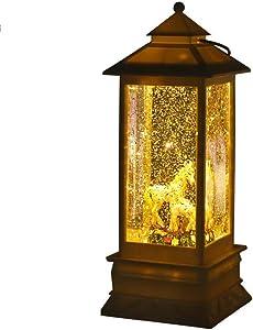 Defect Navidad Adornos candelabro Europea plástico Linterna giratoria led candelabro Decoraciones de la Navidad luz de Noche