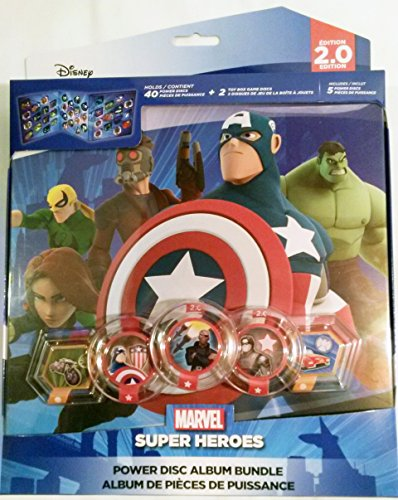 Disney Infinity 2.0 Edition Marvel Super Heroes Power Disc Album Bundle - Featuring Captain America, The Hulk, and More