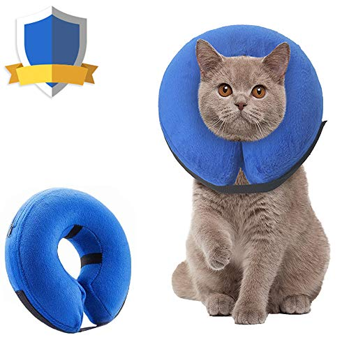 Supet Dog Cones After Surgery, Protective Inflatable Dog Collar Pet Recovery Collar Soft Pet Cone for Small Medium or Large Dogs and Cats Anti-Bite Lick Wound Healing
