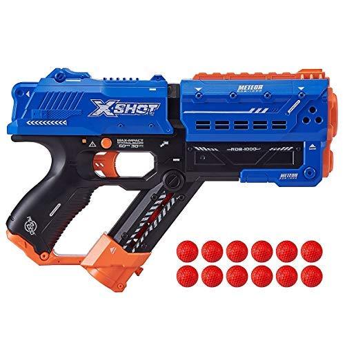 X-Shot Chaos Meteor - Dartblaster, Ball-Blaster, Kugel-Blaster - kompatibel mit Nerf Rival
