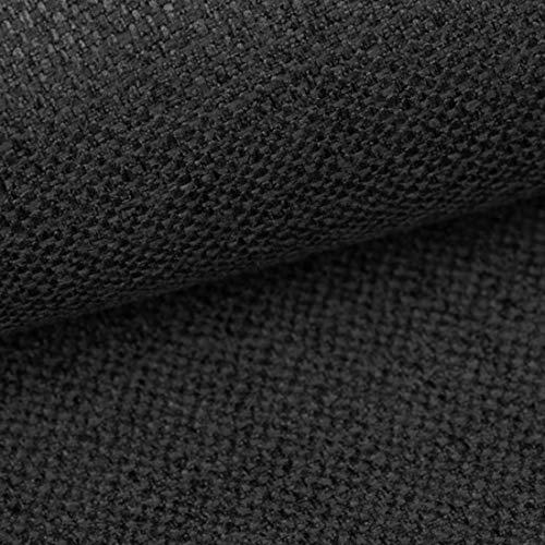 HEKO PANELS Stoffa al Metro Tessuti e Stoffe a Metro - 100% Poliestere Resistente allo Strappo e ai Raggi UV - Tessuti per Tappezzeria per Divani Sedie Poltrona - Grafite