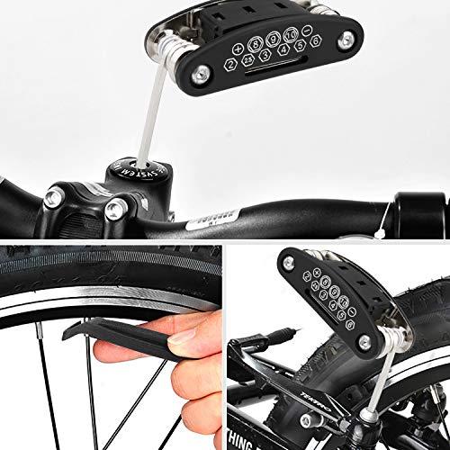 Homealexa Fahrradwerkzeug Praktisches Fahrrad Werkzeug- und Reparatur Set - Flickzeug mit 14-in-1 Multitool, Aufbewahrungstasche - Fahrradflickzeug - Reparaturset - Reifenflickzeug - 5