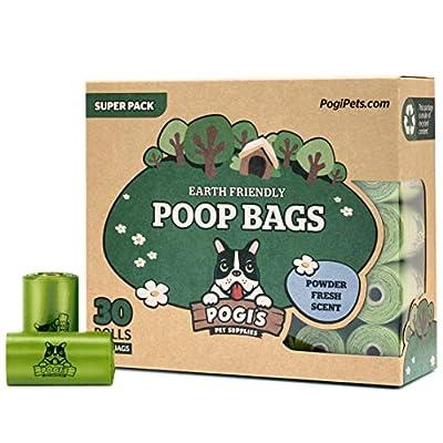 Pogi's Poop Bags - 30 Rolls (450 Dog Poop Bags) - Scented, Leak-Proof, Earth-Friendly Poop Bags for Dogs