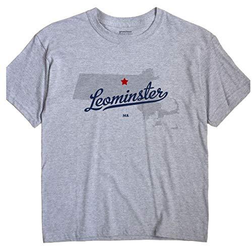 Leominster Massachusetts T-Shirt MAP 2X Grey