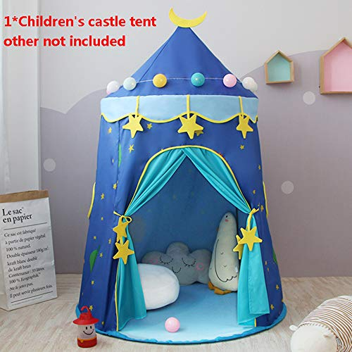 DONG Prince Castle Play Tent For Boys Toddlers Kids Play Tent Indoor And Outdoor Playhouse Gift For Kids,Bluecastle