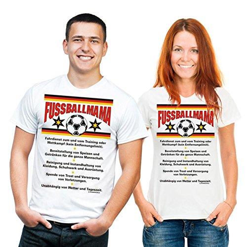 van-Petersen-Shirts Fun T-Shirt Fussballmama Gr XL Fb Weiss