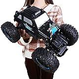 Kikioo RC Coche 1/14 4WD Todo Terreno Monster Truck Desert Rock Rastreadores 4x4 RTR Conducción Dobl...