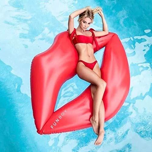 L.J.JZDY Airbeds Sommer Strand Schwimmbad Aufblasbare Lippen Schwimm Reihe Roten Lippen Schwimmbett Sofa Erwachsene Wasserspielzeug 180X160 cm Schwimmdock Row