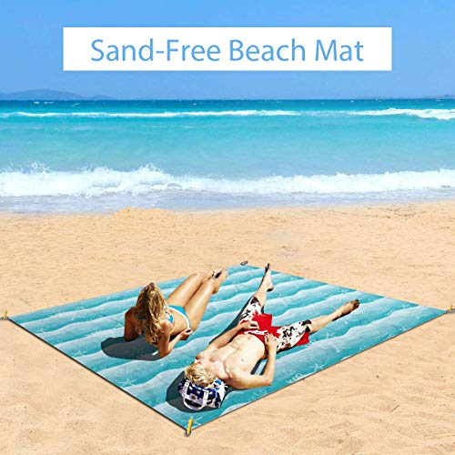 For Sale! MTDKX Large Waterproof Outdoor Picnic Blanket, Outline Starfish and Fishes On Ombre Effect...